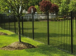 3 Railed Black Ornamental Aluminum Fence