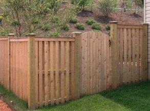 Cedar Alternating Board on Board Privacy Fence