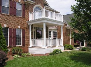Portico with White Vinyl railing