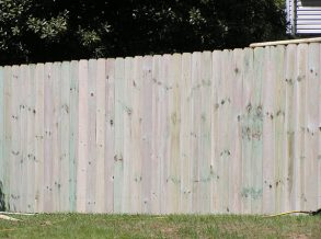 6' High Dog Eared Privacy Fence