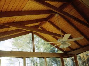 Open Rafter Porch Ceiling