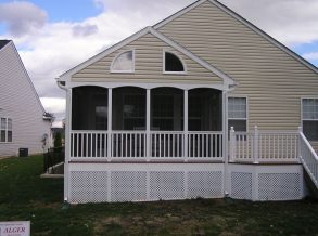 Screen Porch with Closed Gable