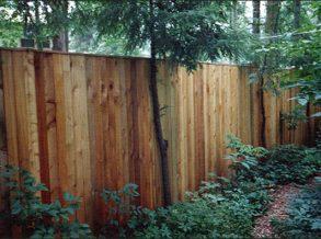 6' High Cedar Privacy Fence