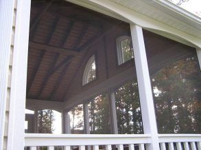 Screen Porch Open Rafter Ceiling