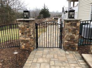 Ornamental Aluminum Arch Top Gate