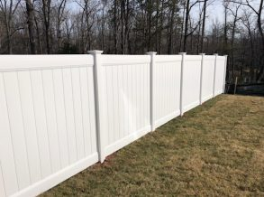 6' High White Vinyl Privacy Fence