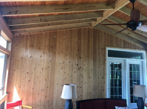 Cedar Tongue and Groove Wall