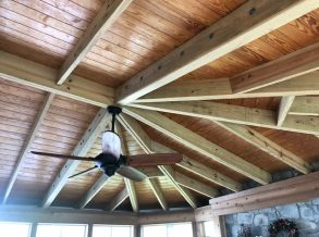 Open Rafter Hipped Roof