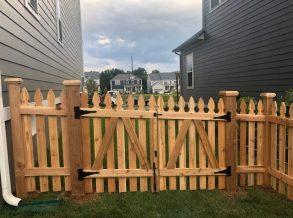 Cedar Picket Double Gate